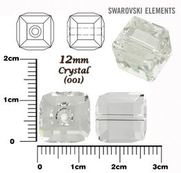 SWAROVSKI 5601 CUBE Bead CRYSTAL 12mm