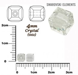 SWAROVSKI 5601 CUBE Bead CRYSTAL 4mm