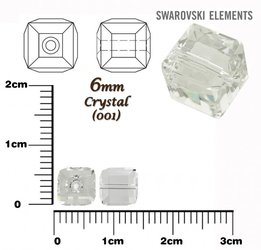 SWAROVSKI 5601 CUBE Bead CRYSTAL 6mm