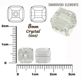 SWAROVSKI 5601 CUBE Bead CRYSTAL 8mm