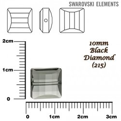 SWAROVSKI 5624 Stairway Bead BLACK DIAMOND 10mm