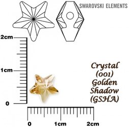 SWAROVSKI 5714 CRYSTAL GOLDEN SHADOW 8mm