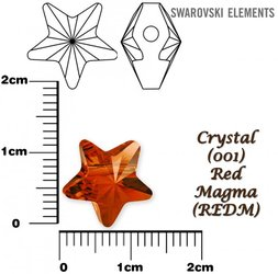 SWAROVSKI 5714 CRYSTAL RED MAGMA 12mm