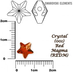 SWAROVSKI 5714 CRYSTAL RED MAGMA 8mm