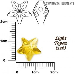 SWAROVSKI 5714 LIGHT TOPAZ  12mm
