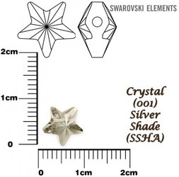 SWAROVSKI 5714 SILVER SHADE  8mm