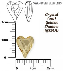SWAROVSKI 5743 CRYSTAL GOLDEN SHADOW 12mm