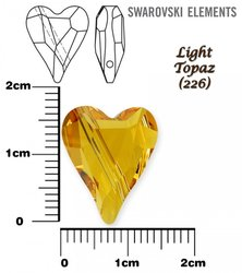 SWAROVSKI 5743 LIGHT TOPAZ 17mm