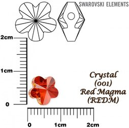 SWAROVSKI 5744 RED MAGMA 8mm