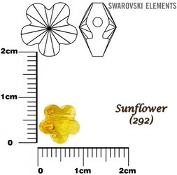 SWAROVSKI 5744 SUNFLOWER 8mm