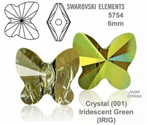 SWAROVSKI 5754 IRIDESCENT GREEN 6mm