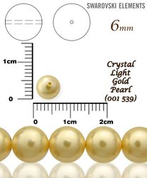 SWAROVSKI 5810 LIGHT GOLD PEARL 539 vel-6mm