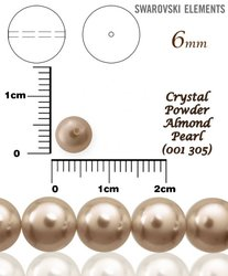 SWAROVSKI 5810 POWDER ALMOND PEARL 305 vel-6mm