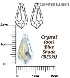 SWAROVSKI 6000 BLUE SHADE 15x7mm