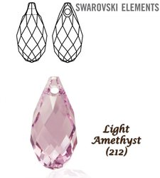 SWAROVSKI 6010 Briolette 11x5,5mm LIGHT AMETHYST