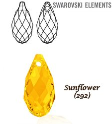SWAROVSKI 6010 Briolette 11x5,5mm SUNFLOWER