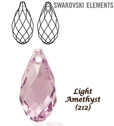 SWAROVSKI 6010 Briolette 13x6,5mm LIGHT AMETHYST