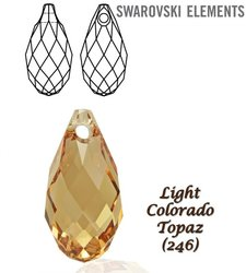 SWAROVSKI 6010 Briolette 13x6,5mm LIGHT COLORADO T