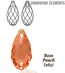 SWAROVSKI 6010 Briolette 13x6,5mm ROSE PEACH