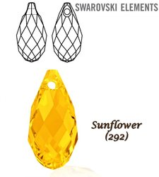 SWAROVSKI 6010 Briolette 13x6,5mm SUNFLOWER