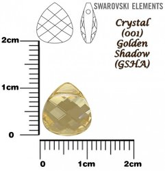 SWAROVSKI 6012 CRYSTAL GOLDEN SHADOW 11mm