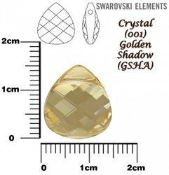 SWAROVSKI 6012 CRYSTAL GOLDEN SHADOW 15mm