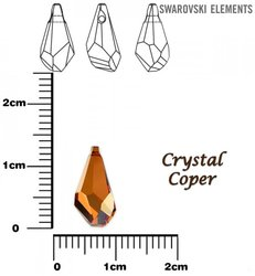 SWAROVSKI 6015 CRYSTAL COPPER 13mm
