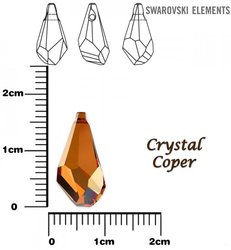 SWAROVSKI 6015 CRYSTAL COPPER 17mm