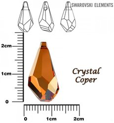 SWAROVSKI 6015 CRYSTAL COPPER 21mm