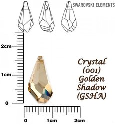 SWAROVSKI 6015 GOLDEN SHADOW 17mm