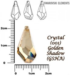 SWAROVSKI 6015 GOLDEN SHADOW 21mm