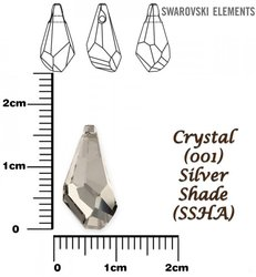 SWAROVSKI 6015 SILVER SHADE 17mm