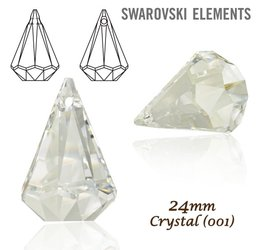 SWAROVSKI 6022 Raindrop 24mm CRYSTAL