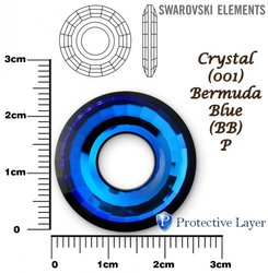 SWAROVSKI 6039 CRYSTAL BERMUDA BLUE  25mm
