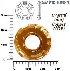 SWAROVSKI 6039 CRYSTAL COPPER  25mm