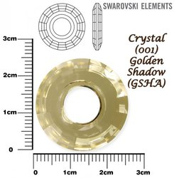SWAROVSKI 6039 CRYSTAL GOLDEN SHADOW  25mm