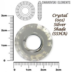 SWAROVSKI 6039 CRYSTAL SILVER SHADE 25mm