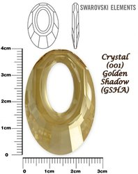 SWAROVSKI 6040 CRYSTAL GOLDEN SHADOW 40mm