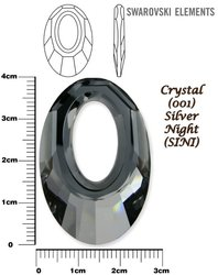 SWAROVSKI 6040 CRYSTAL SILVER NIGHT 40mm