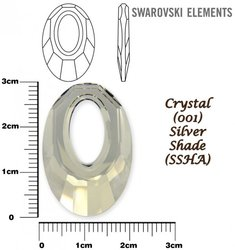 SWAROVSKI 6040 CRYSTAL SILVER SHADE 30mm