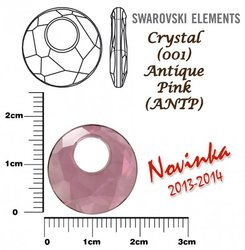 SWAROVSKI 6041 ANTIQUE PINK 18mm