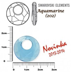 SWAROVSKI 6041 AQUAMARINE 18mm