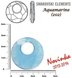 SWAROVSKI 6041 AQUAMARINE 28mm