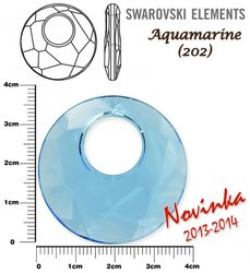 SWAROVSKI 6041 AQUAMARINE 38mm