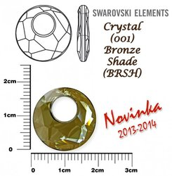SWAROVSKI 6041 BRONZE SHADE 18mm