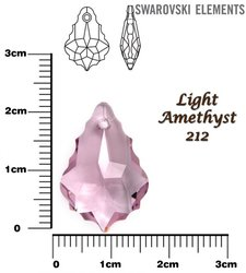 SWAROVSKI 6090 LIGHT AMETHYST  22x15mm