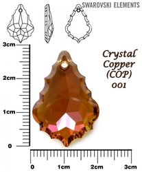 SWAROVSKI 6091 CRYSTAL COPPER 28mm
