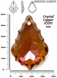 SWAROVSKI 6091 CRYSTAL COPPER 50mm