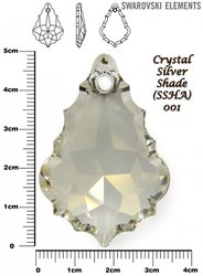 SWAROVSKI 6091 CRYSTAL SILVER SHADE 50mm