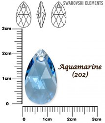 SWAROVSKI 6106 AQUAMARINE 22mm